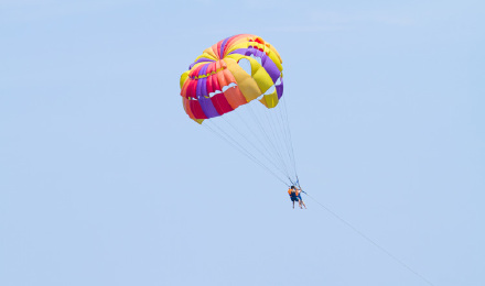 【飞的高看得远】三亚蜈支洲岛 拖伞