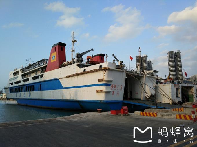 上张夜景 5号早上6:30到达北海国际客运码头,徒步两公里就可以到达