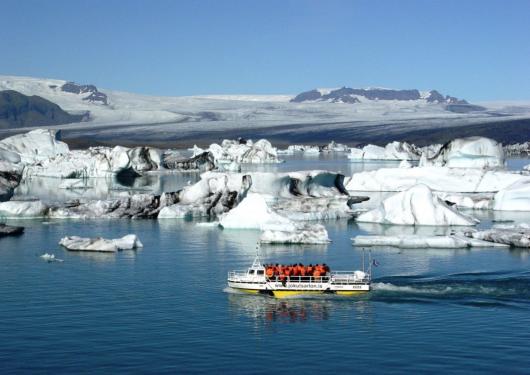 冰岛 瓦特纳国家公园观光 杰古沙龙冰河湖船游一日游