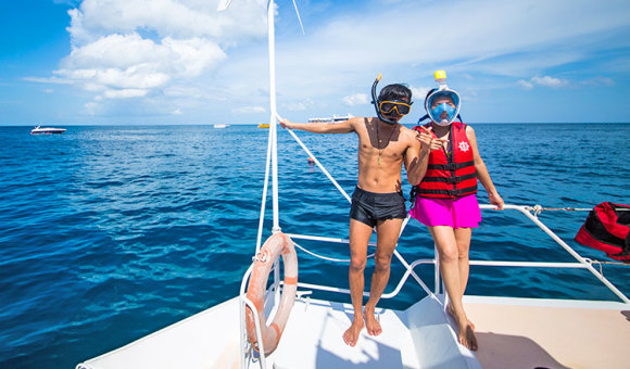 普吉 皇帝岛 珊瑚岛一日游 浮潜海钓 狮子号双体帆船