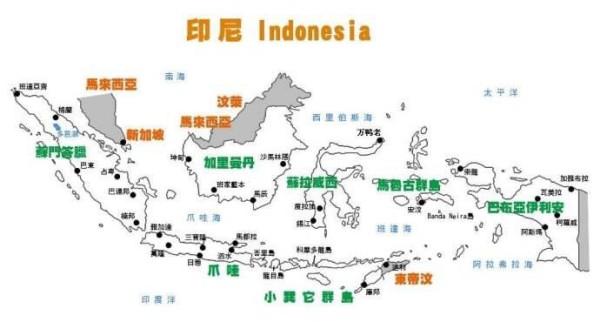 苏门答腊岛,伊里安岛,苏拉威西岛和爪哇岛.