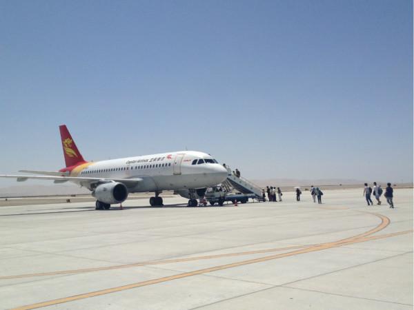 也许是中国民航航班延误已经习惯,敦煌飞往乌鲁木齐的航班尽然提前15