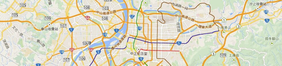 2017台北捷运站地图