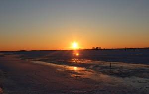 【抚远图片】今天抚远真的是好冷啊零下25度!还是阻止不了我对日落的喜爱!穿戴整齐急忙跑去拍落日冻的手都不好使