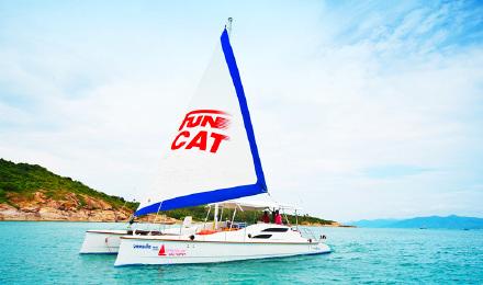 泰国苏梅岛双体帆船 包船一日游 海钓 浮潜接送