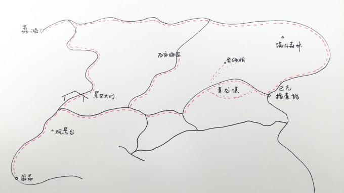 地图 简笔画 手绘 线稿 680_383