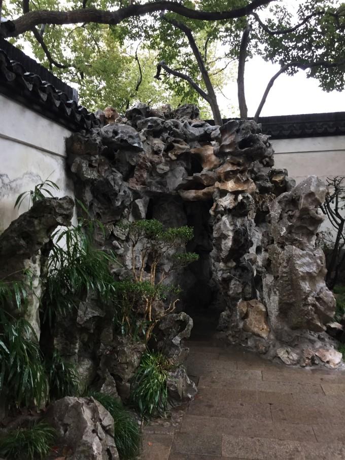 豫园的绿化布局合理,植物配置得当,层次分明,其特点是古树名